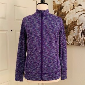 LIVI Active by Lane Bryant Space Dye Active Jacket